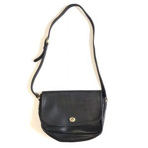 Coach Black Prairie Leather Cross Body Hand Bag